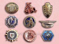 Badges stamped under the order