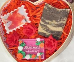 Gift sets with natural soap for different
