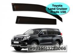 Toyota Land Cruiser Prado 150 üçün yan vetroviklər.  Ветровики для Toyota Land Cruiser Prado 150.