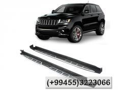 Jeep Grand Cherokee 2012-2014 üçün yan ayaqaltilar.  Боковые подножки для Jeep Grand Cherokee 2012-2014.