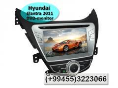 Hyundai Elantra 2011 üçün DVD-monitor. DVD-монитор для Hyundai Elantra 2011.