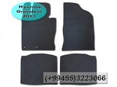 Hyundai Grandeur 2011 üçün rezin ayaqaltilar.  Резиновые коврики для Hyundai Grandeur 2011 .