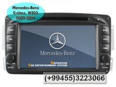 Mercedes Benz C-class 2000-2004 W203 üçün DVD-monitor .  DVD-монитор для Mercedes Benz C-class W203 2000-2004.