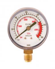 Манометр 0-315 аргон-двуокись углерода, давление до
