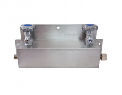 Манифольдная система для соединения двух баллонов - инертный газ