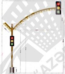 L Тип  Светодиодный светофор