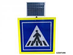 Светодиодные дорожные знаки на солнечных электростанциях