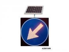 Светодиодные дорожные знаки на солнечных...