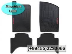 Mitsubishi L200 üçün rezin ayaqaltilar,Коврики для Mitsubishi L200.