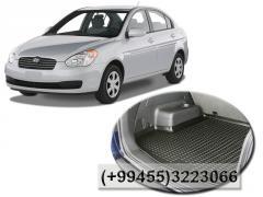 Hyundai Accent 2000- 2010 ucun baqaj ayaqaltısı, Багажный коврик для Hyundai Accent 2000- 2010.
