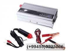 Avtomobildəki 12 volt 220 volta ceviren cihaz 1200 watt, Прибор для преобразования тока в автомобиле из 12 Вольт в 220 Вольт 1200Вт.