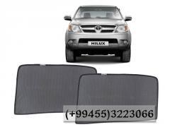 Toyota Hilux üçün yan pərdələr, Боковые шторки для Toyota Hilux.