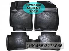 Hyundai Accent 2010 üçün poliuretan ayaqaltilar AİLERON, Полиуретановые коврики AİLERON для Hyundai Accent 2010 .