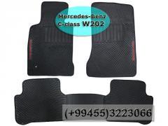 Mercedes Benz C-Class W202 üçün silikon ayaqaltilar ,Силиконовые коврики для Mercedes Benz C-Class W202 .