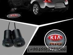 Kia Rio üçün lazer loqo, Лазерное лого для Kia Rio.