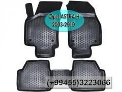 Opel Astra H 2003-2010 üçün poliuretan Loker  ayaqaltilar,  Полиуретановые коврики Loker для Opel Astra H 2003-2010.