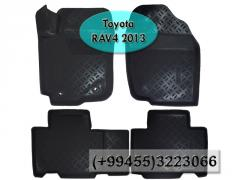 Toyota Rav4 2013 üçün poliuretan ayaqaltılar,Полиуретановые коврики для Toyota Rav4 2013.