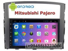 Mitsubishi Pajero üçün Android DVD-monitor, Android DVD-монитор для Mitsubishi Pajero.
