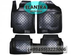 Hyundai Elantra 2010-2016 üçün poliuretan ayaqaltılar,  Полиуретановые коврики для Hyundai Elantra 2010-2016.