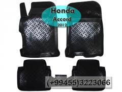 Honda Accord 2012 üçün poliuretan ayaqaltılar,   Полиуретановые коврики для Honda Accord 2012.