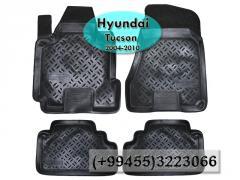 Hyundai Tucson 2004-2010 üçün poliuretan ayaqaltılar,Полиуретановые коврики для Hyundai Tucson 2004-2010.