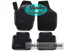 Skoda Roomster üçün poliuretan və kovrolit ayaqaltılar, Полиуретановые коврики для Skoda Roomster.