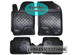 Hyundai Getz 2002-2010 üçün poliuretan ayaqaltılar,Полиуретановые коврики для Hyundai Getz 2002-2010.