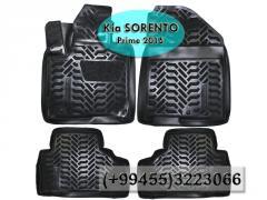 Kia Sorento Prime 2015 üçün poliuretan ayaqaltılar, Полиуретановые коврики для Kia Sorento Prime 2015.