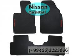 Nissan Qashqai üçün silikon ayaqaltılar,Силиконовые коврики для Nissan Qashqai .