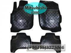 Mitsubishi L200 üçün poliuretan ayaqaltılar, Полиуретановые коврики для Mitsubishi L200.