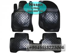 Nissan X-Trail T30 2001-2007 üçün poliuretan ayaqaltılar,  Полиуретановые коврики для Nissan X-Trail T30 2001-2007 .