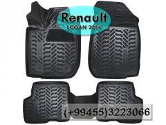 Renault Logan 2014  və hər növ avtomobil üçün poliuretan ayaqaltilar,Полиуретановые коврики для Renault Logan 2014