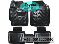 Toyota Camry 2011 XV50 üçün poliuretan ayaqaltilar, Полиуретановые коврики для Toyota Camry 2011 XV50 .
