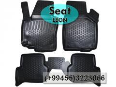 Seat Leon üçün poliuretan ayaqaltilar,  Полиуретановые коврики для Seat Leon .