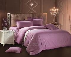Постельное белье сатин страйп LoveYou светло-фиолетовый