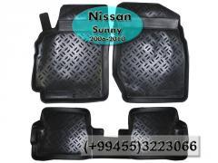 Nissan Sunny 2006-2010 üçün poliuretan ayaqaltilar, Полиуретановые коврики для Nissan Sunny 2006-2010 .