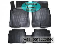 Hyundai Sonata 2004-2010 üçün poliuretan ayaqaltilar, Полиуретановые коврики для Hyundai Sonata 2004-2010.