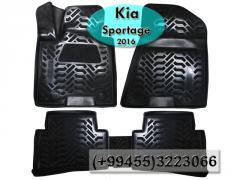 Kia Sportage 2016 üçün poliuretan ayaqaltilar, Полиуретановые коврики для Kia Sportage 2016 .
