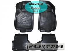 Chevrolet Cobalt 2012 üçün poliuretan ayaqaltılar,Полиуретановые коврики для Chevrolet Cobalt 2012.