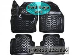Ford Kuga 2013 üçün poliuretan ayaqaltılar,  Полиуретановые коврики для Ford Kuga 2013.