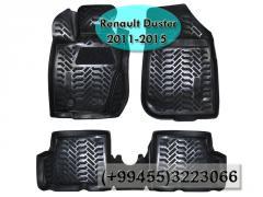 Renault Duster 2011-2015 üçün poliuretan ayaqaltilar , Полиуретановые коврики для Renault Duster 2011-2015 .