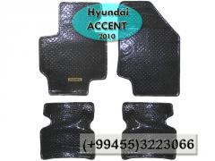 Hyundai Accent 2010 üçün sellofanllanmış boz kovrolit ayaqaltılar,  Серый кавролит покрытый целлофаном для Hyundai Accent 2010 .