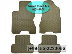 Nissan X-Trail T30 2001-2007 üçün silikon ayaqaltilar,  Силиконовые коврики для Nissan X-Trail T30 2001-2007.