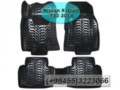 Nissan X-Trail T32 2014 üçün poliuretan ayaqaltilar, Полиуретановые коврики для Nissan X-Trail T32 2014.