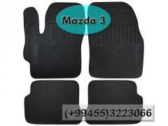 Mazda 3 üçün silikon ayaqaltilar,  Силиконовые коврики для Mazda 3.
