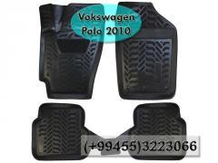 Volkswagen Polo 2010 üçün poliuretan ayaqaltilar,  Полиуретановые коврики для Volkswagen Polo 2010.