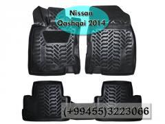 Nissan Qashqai 2014  üçün poliuretan ayaqaltilar, Полиуретановые коврики для Nissan Qashqai 2014 .