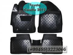 Toyota Corolla 2012 üçün poliuretan ayaqaltilar, Полиуретановые коврики для Toyota Corolla 2012.