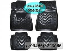 Lexus GS300 2005-2011 üçün poliuretan ayaqaltilar,  Полиуретановые коврики для Lexus GS300 2005-2011.