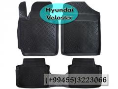 Hyundai Veloster üçün poliuretan ayaqaltılar,Полиуретановые коврики для Hyundai Veloster.